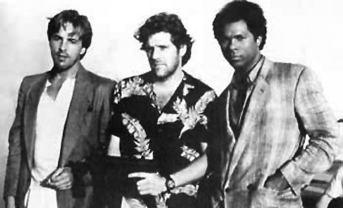 gleen frey with don johnson and philip michael thomas from Miami Vice